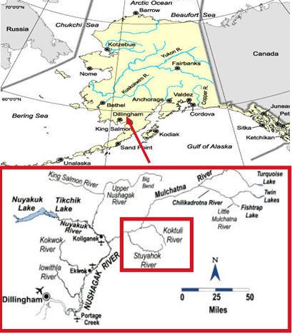 Karte Alaska / Bristol Bay