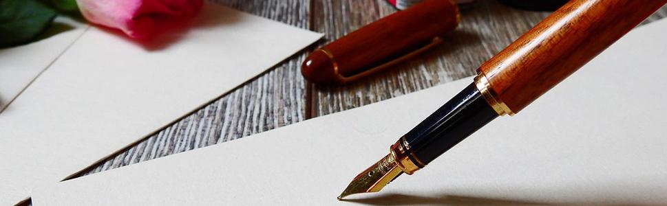 plume d'écriture, feuille, livre d'or, avis, opinion, client, cliente, donner donner son avis