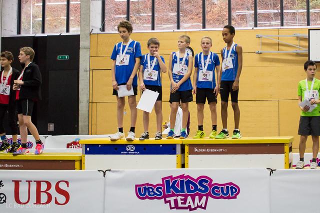 Die Sieger der Knaben U14 Eliseo Weber, Samuel Borner, Lars Richner, Adrian Mathis und Yannick Rohrer (von links nach rechts)