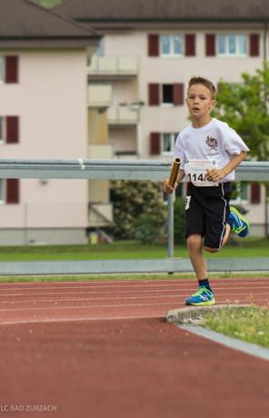 Der jüngste Läufer Finn Zihlmann (2007) über 3 x 1000 Meter