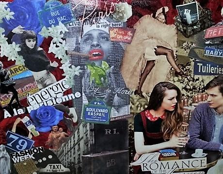 Parisienne - Art du collage personnalisé - Artiste collagiste Paris -