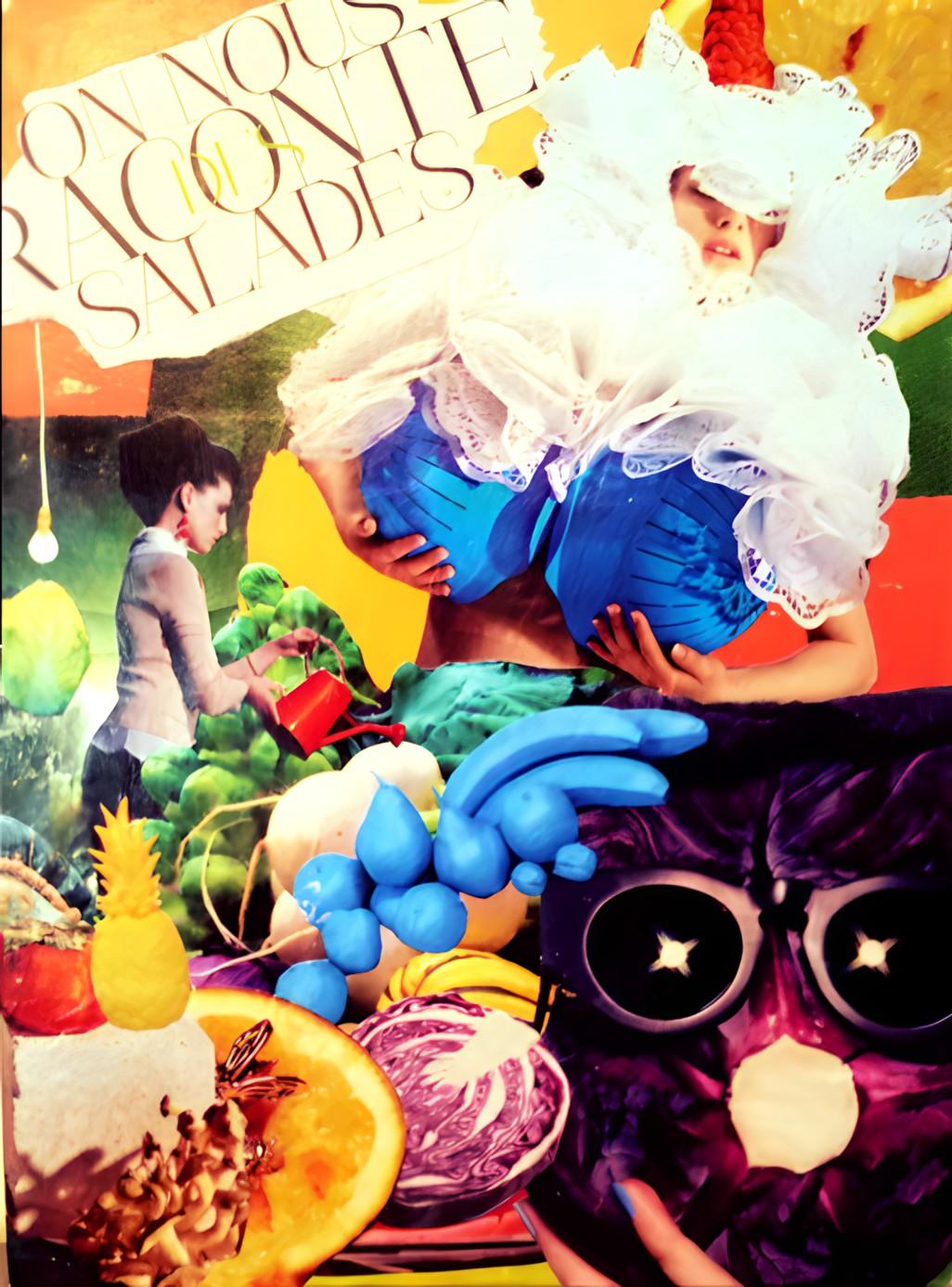 """tableau personnalisé, collage """"On nous raconte des salades"""""""