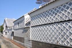 静岡県賀茂郡松崎町のなまこ壁通り