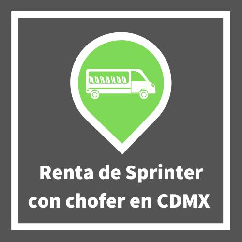 Renta de sprinter con chofer CDMX
