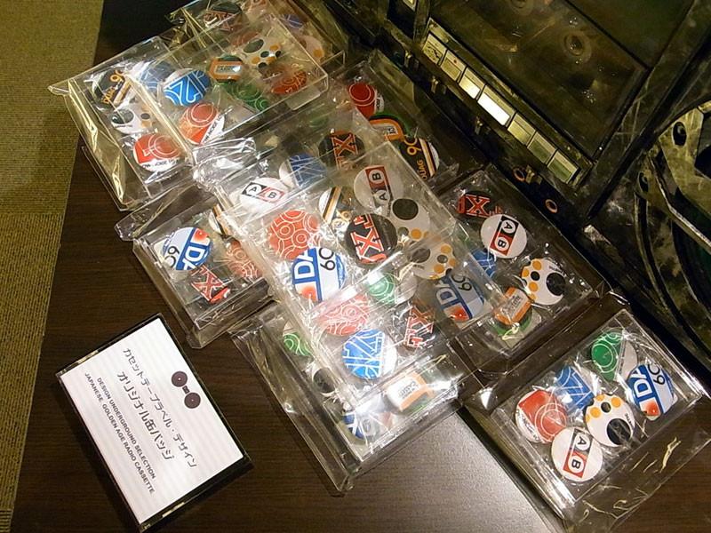 カセットテープラベルデザイン・缶バッジ