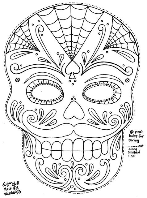 masque halloween a colorier coco fetes des morts