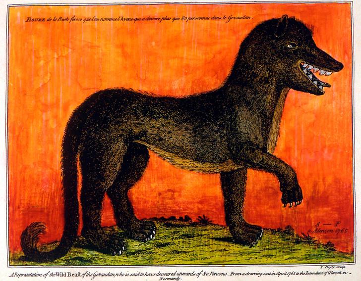 liste animaux fantastiques étranges mythologiques cryptozoologie bete du gevaudan loup