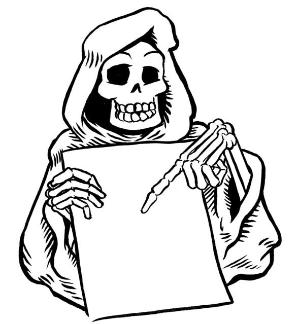 coloriage squelette halloween skeleton