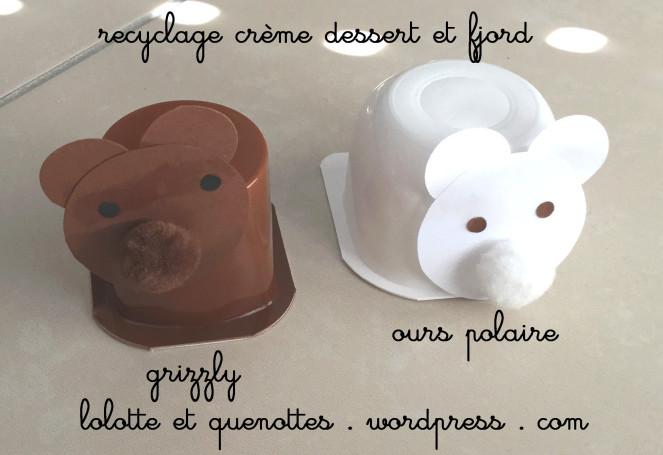 bricolage animaux lolotte et quenottes ourson pot creme dessert