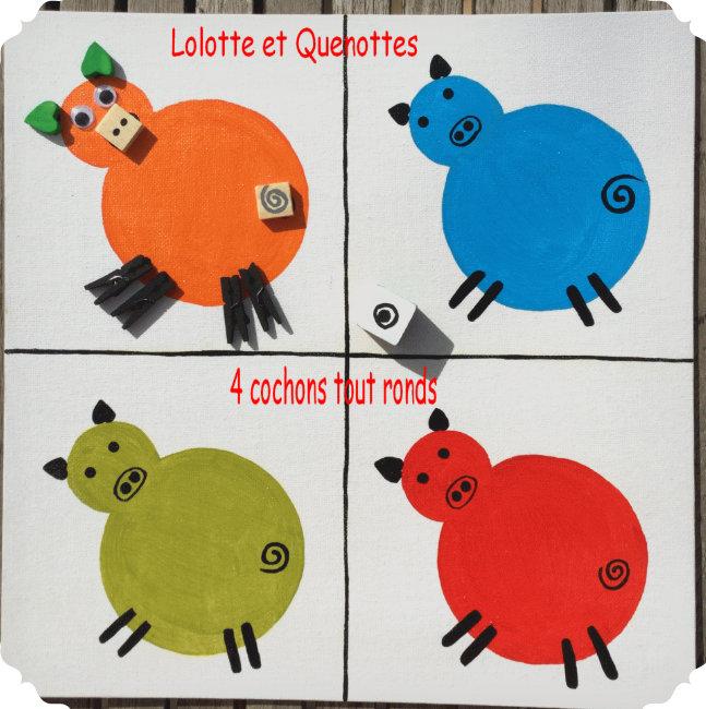 bricolage jeu éducatif enfants animaux lolotte et quenottes cochon qui rit