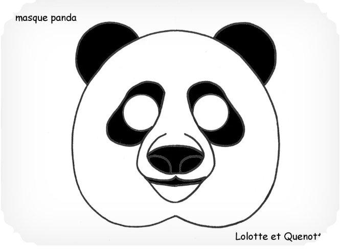 bricolage animaux lolotte et quenottes masque panda a découper bricolage animaux