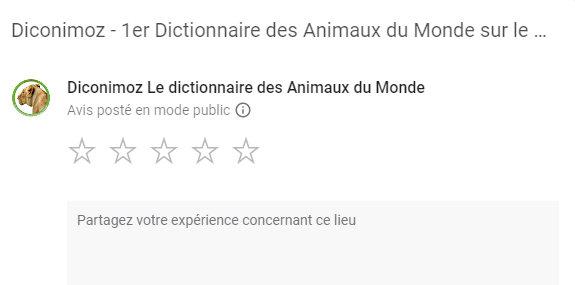 avis dictionnaire des animaux liste diconimoz google