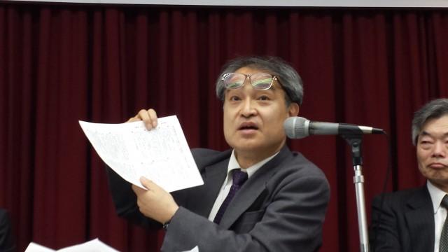 第1回口頭弁論後の記者会見 植村隆氏 2016.4.22