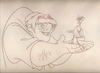 Hunchback of Notre Dame 1995 - Quasimodo, assistant to lead animator James Baxter