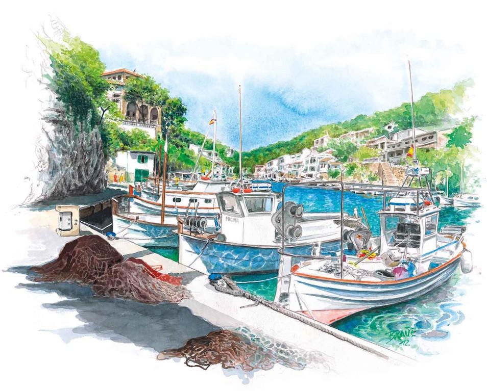 Mallorca Kalender - Das fertige Juli-Monatsblatt