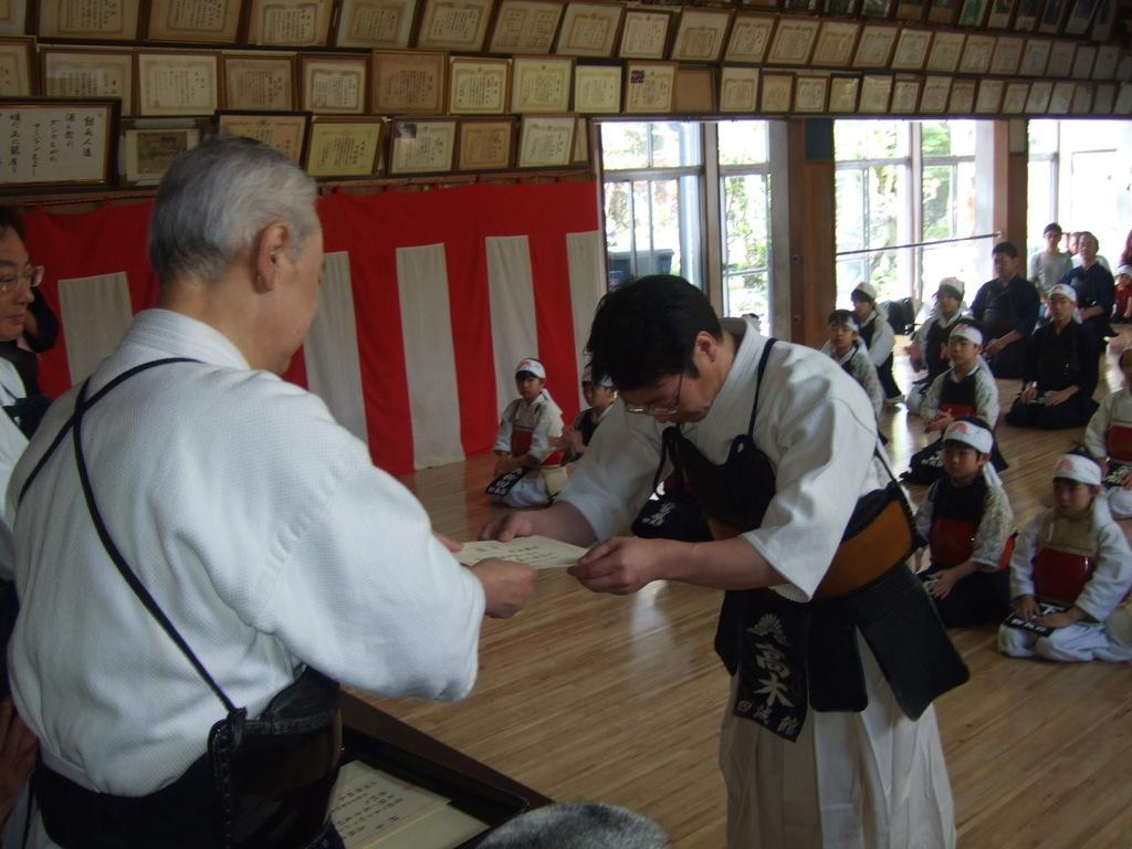 教師辞令 高木雅也先生