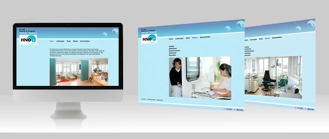 HNO Praxis Berlin Webdesign Düsseldorf