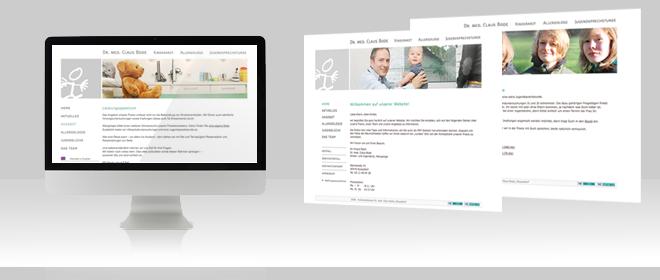 Kinderarzt Website Düsseldorf