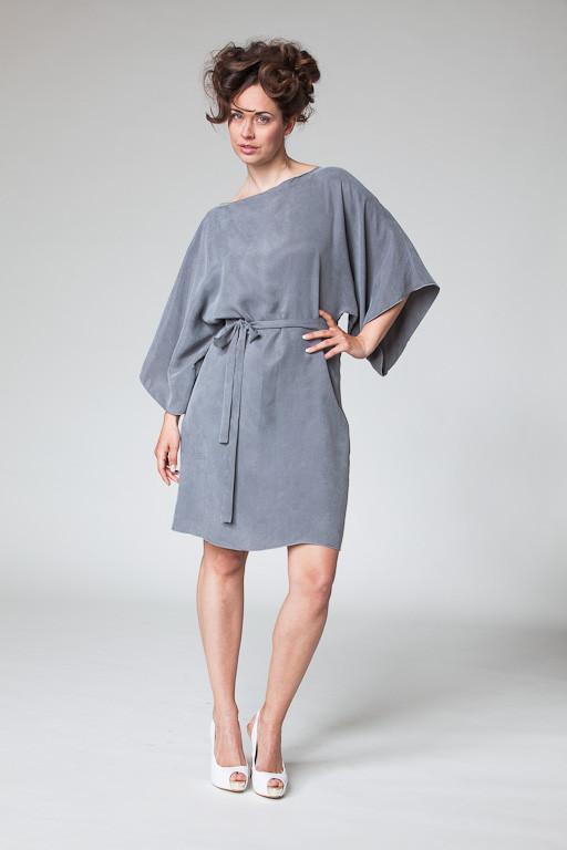 Kimonokleid in grau