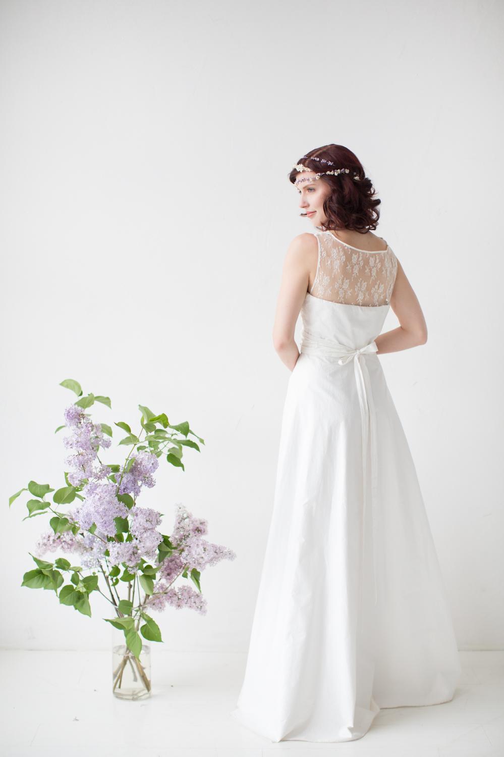 """Vintage Spitzen-Brautkleid """"Blütenfee"""""""