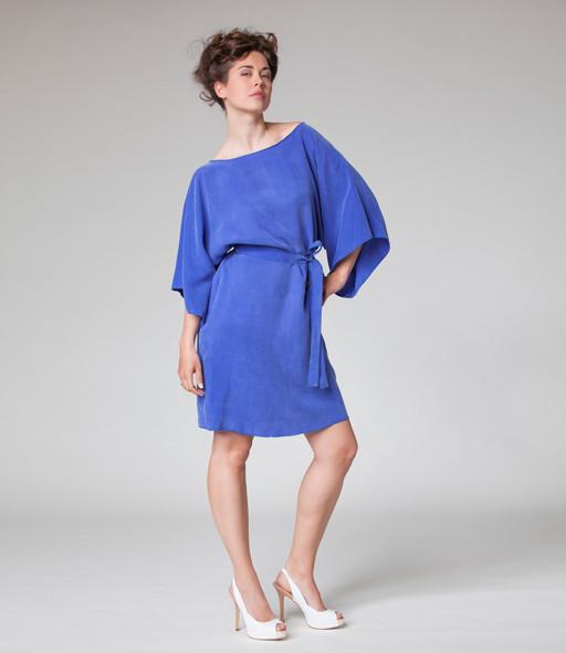 Kimonokleid in blau