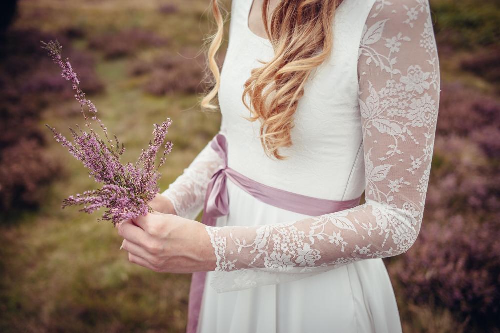 """Vintage Brautkleid """"Sonnentanz"""" aus Biobaumwolle mit Spitze"""