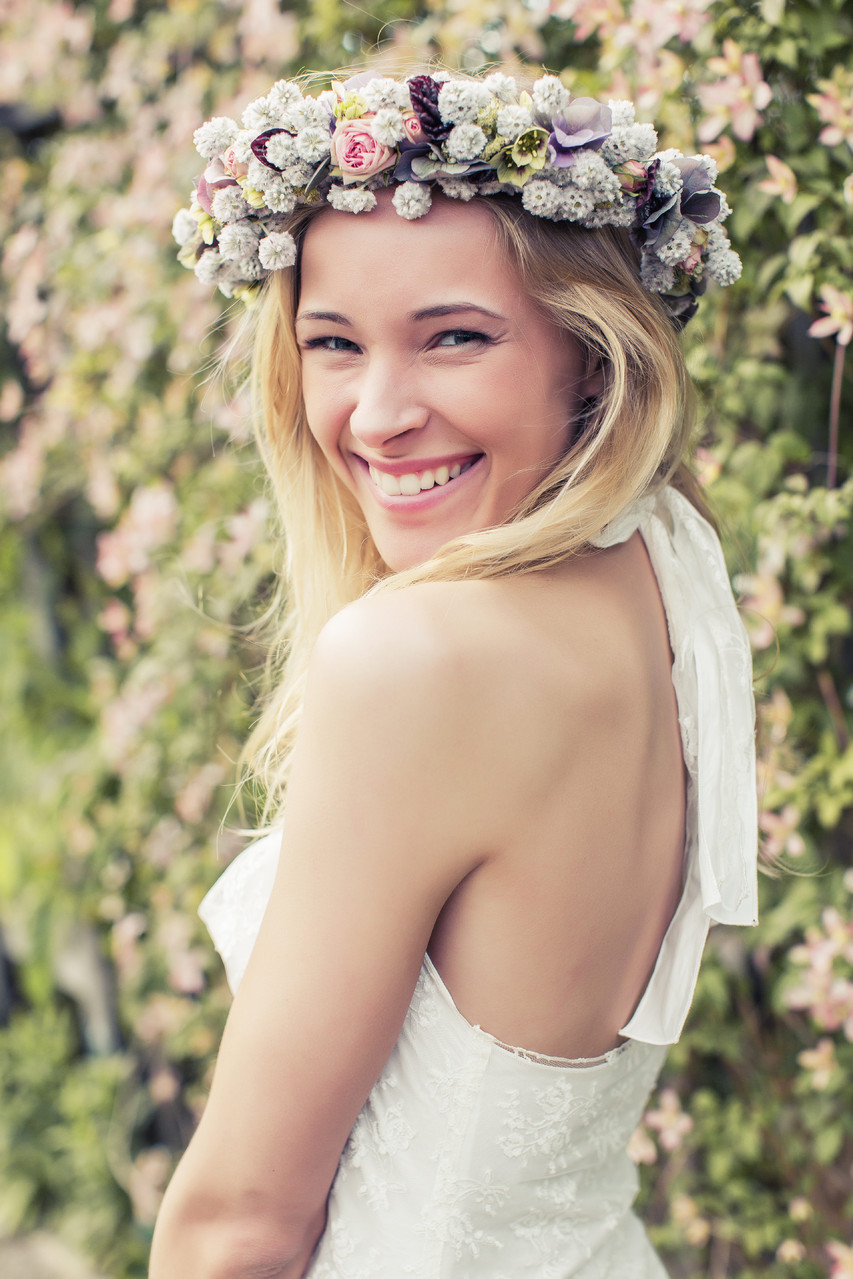 Boho  Spitzen-Brautkleid von Rike Winterberg