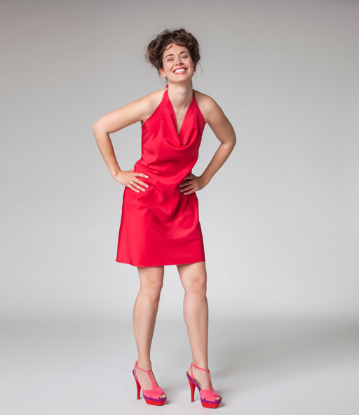 "Abendkleid, Cocktailkleid ""Sternentanz"" in rot"