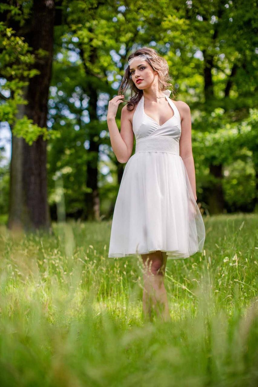 "kurzes Brautkleid ""Mimi"" bio und vegan"