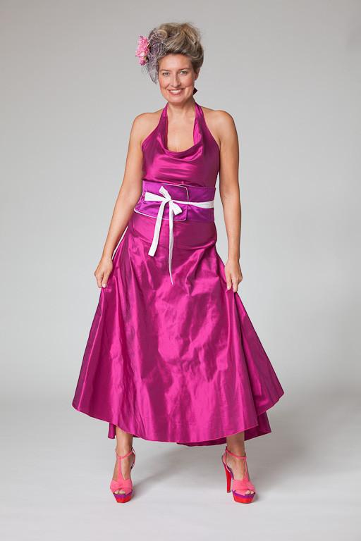 """Abendkleid, Cocktailkleid """"Sternentanz"""" aus Seide in pink"""