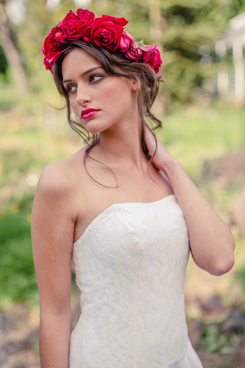 """schulterfreies Brautkleid aus Biobaumwolle""""Sonnenpracht"""""""