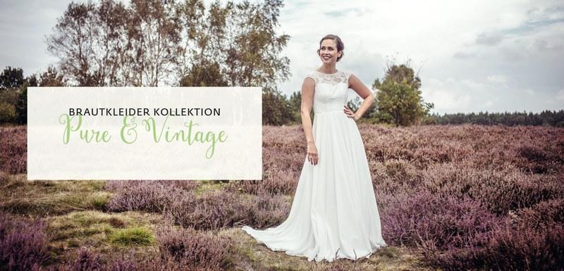 """""""Pure & Vintage"""" Brautkleider Kollektion"""