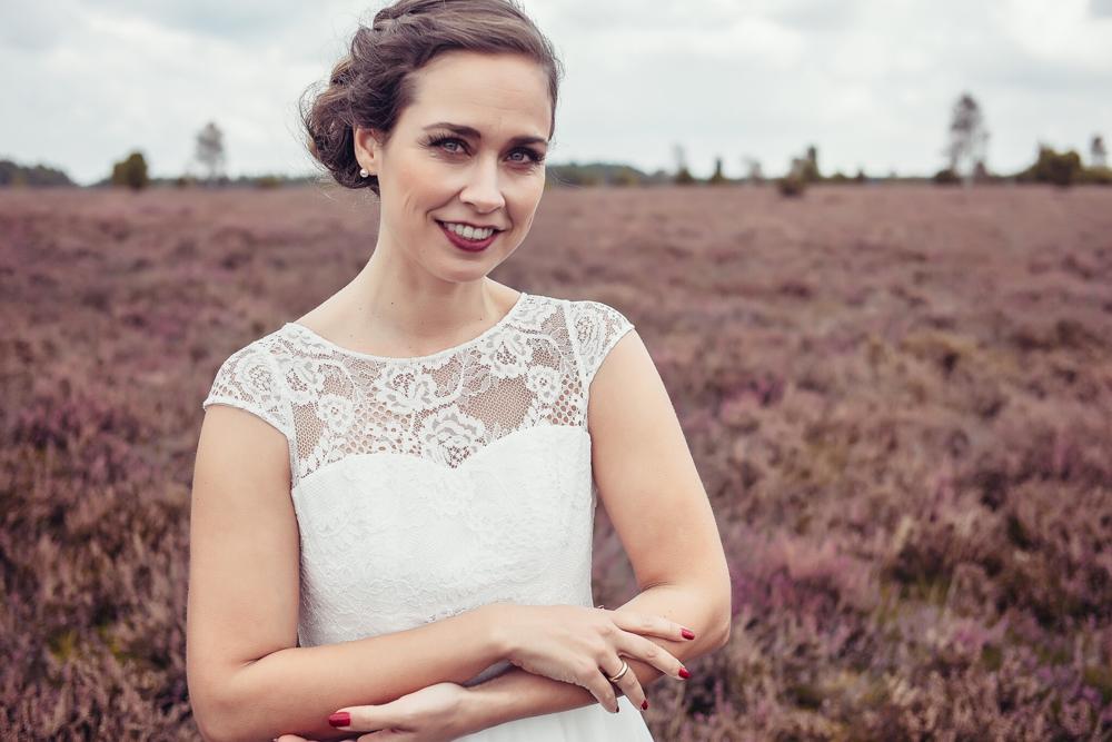 """Vintage Brautkleid """"Mika"""" aus Biobaumwolle mit Spitze"""