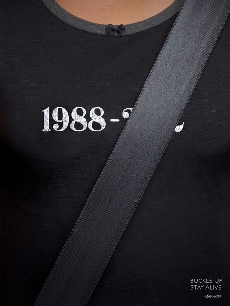 Québec - Buckle Up. Stay Alive.