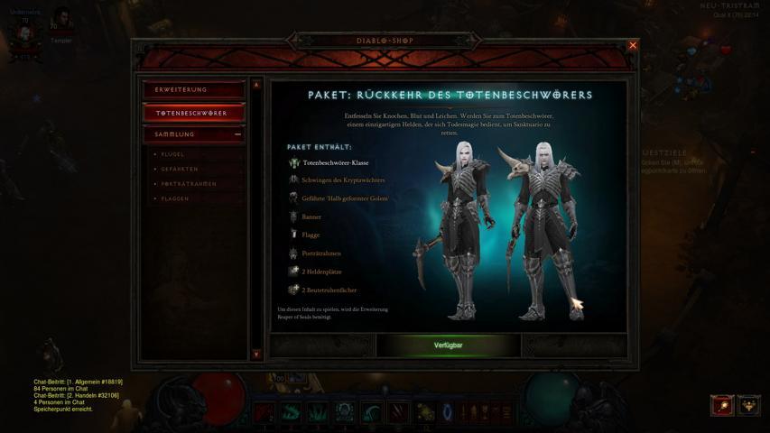 Diablo 3 Totenbeschwörer, das bekommt man für seinen 15 Euro