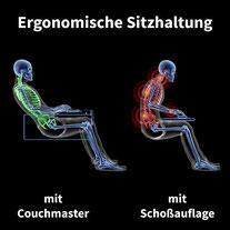 Couchmaster ergonomische Sitzhaltung