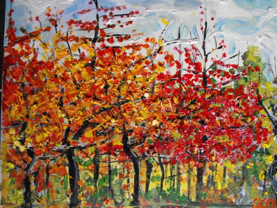 Kirschbäume im Herbst II Öl auf Leinwand, 2013