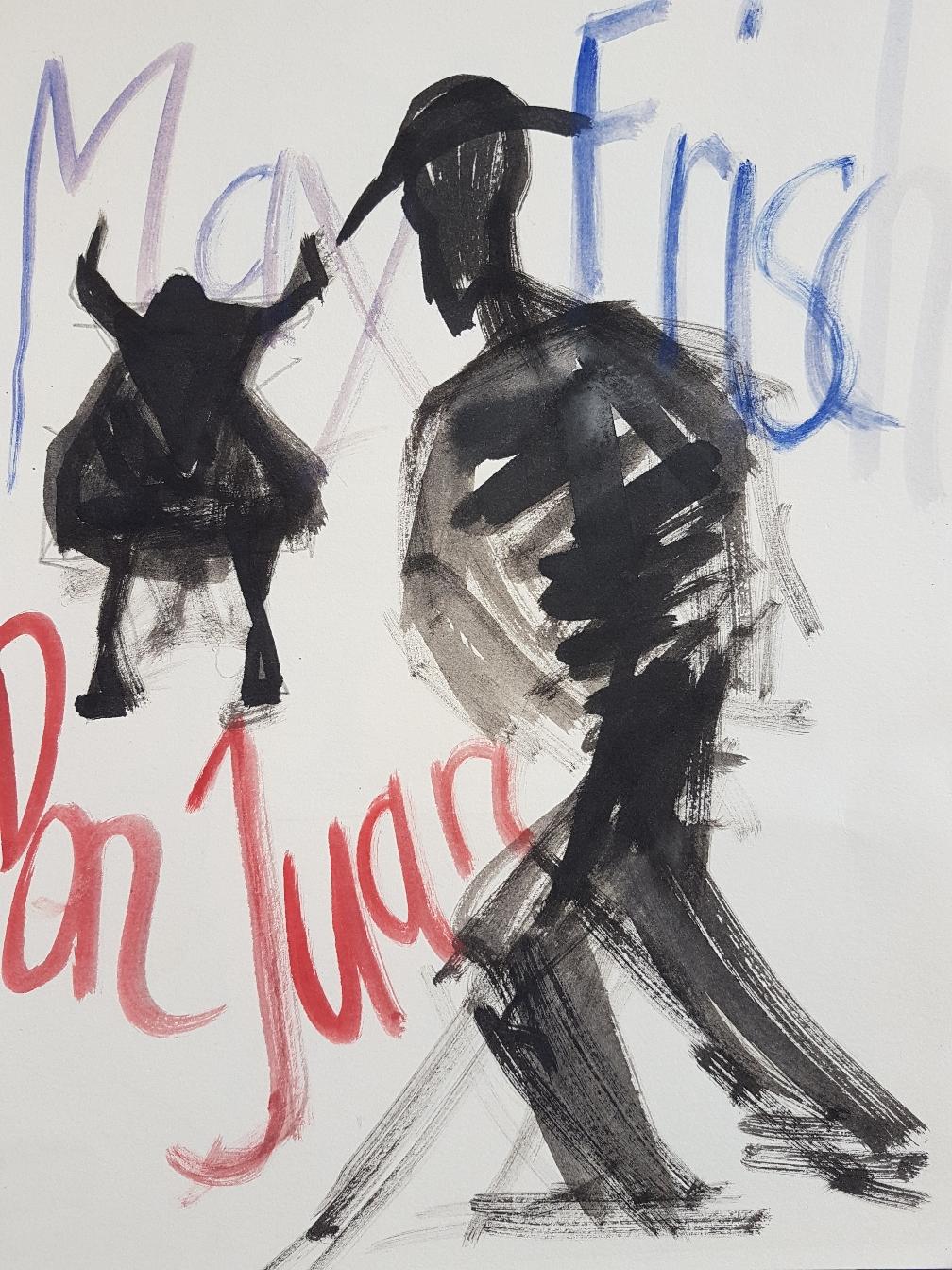 Skizze Plakat Don Juan, 2001