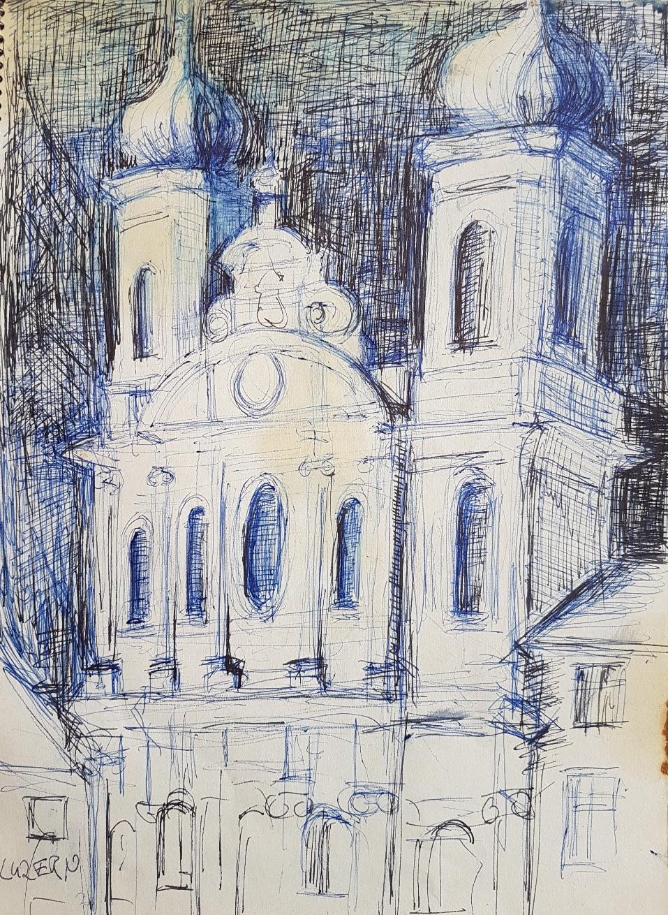 Luzern, Tinte auf Papier, 1997