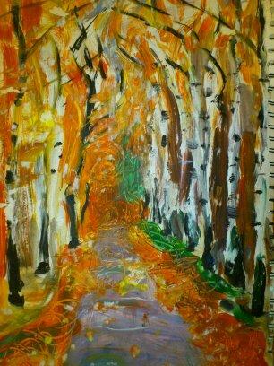 Birken im Herbst, 2012