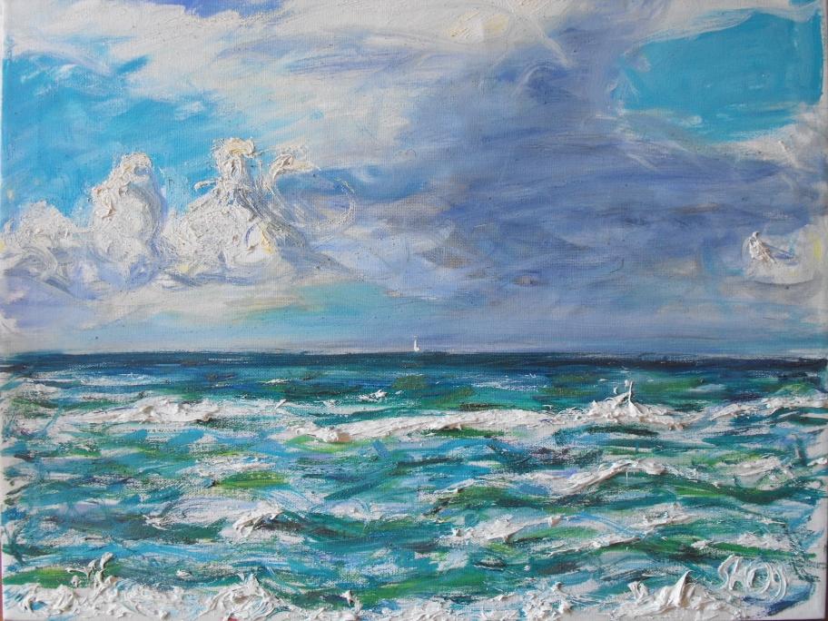 Am Meer, Öl auf Leinwand, 2009