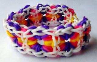 Rainbow Loom Stardust Square Bracelet