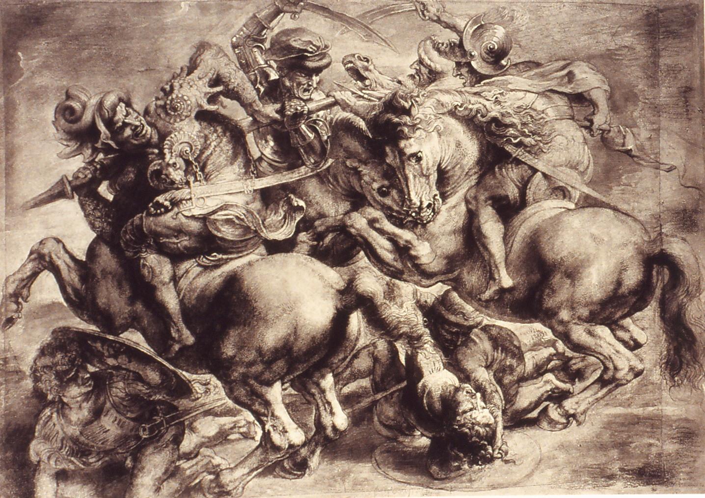 ルーベンスによる模写「アンギアーリの戦い」