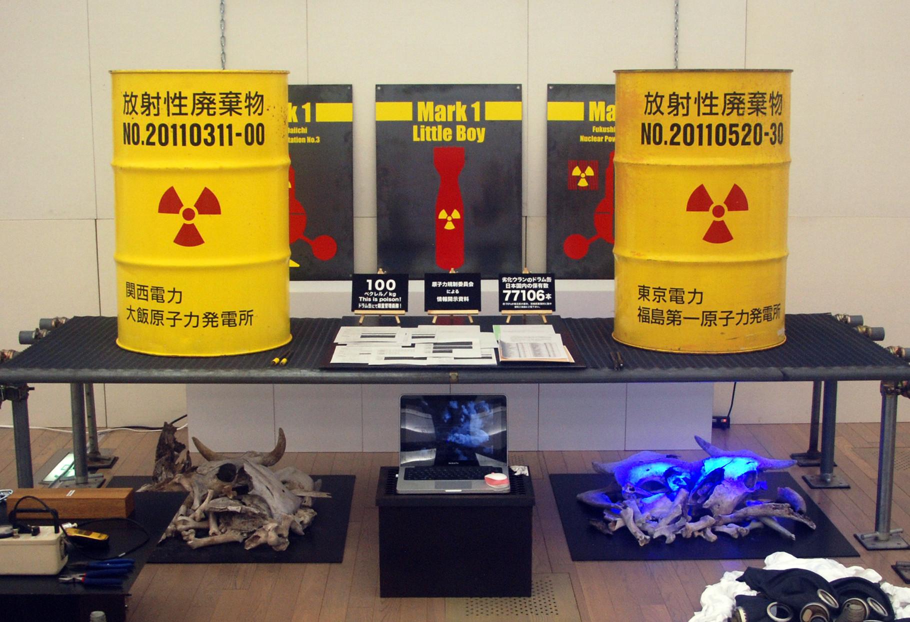 石川雷太「核と原子力の根本原理」全景 撮影:昼間光城