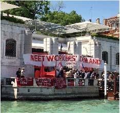 グッゲンハイム・ベネチアにデモを仕掛けるGulf Labor