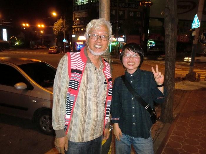 イ・チュンウ先生と三浦さん(公州