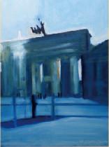 田中悦子 Brandenburger Tor    ブランデンブルク門(油彩)