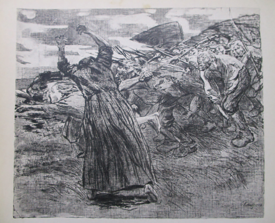 連作『農民戦争』第5葉 蜂起 1902/03