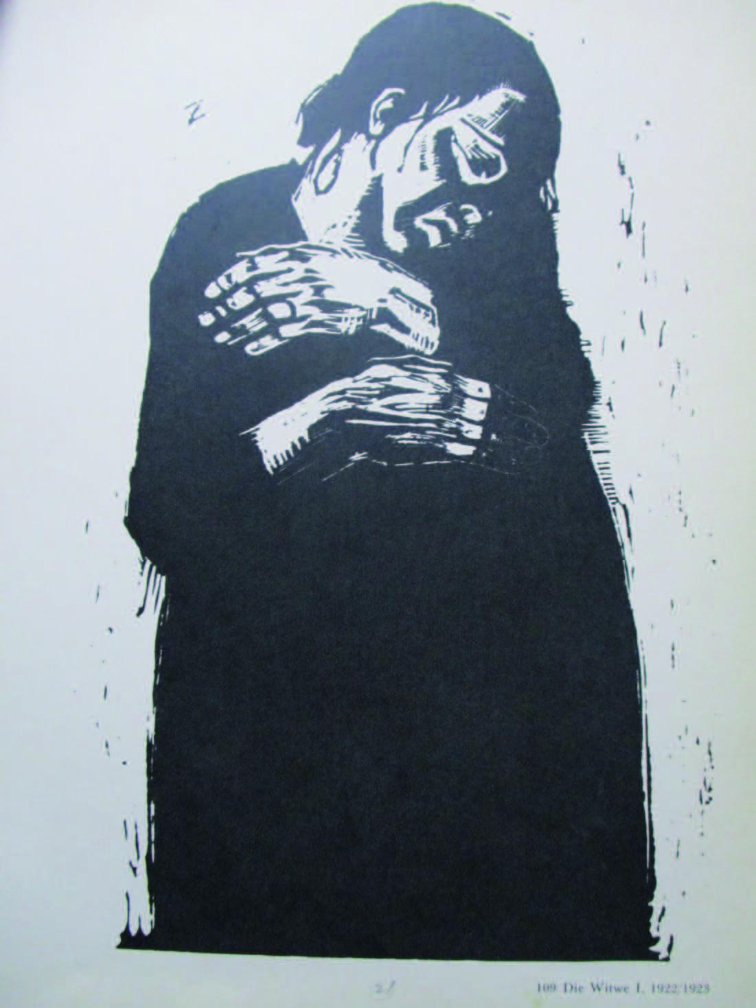 連作『戦争』第4 葉 寡婦1 1922/23