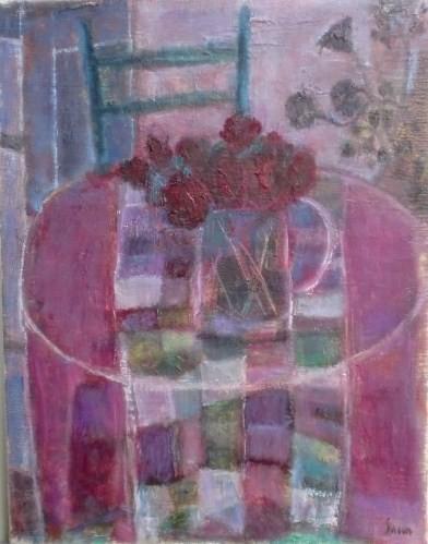 薔薇の絵 6号 油彩